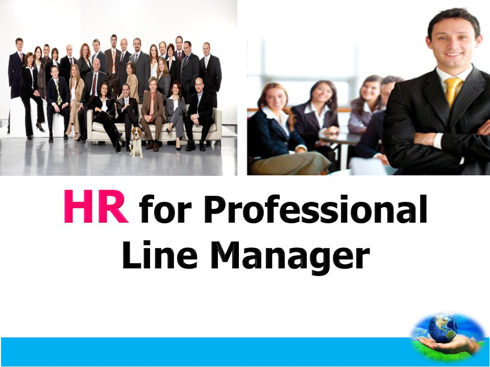 HR for Professional Line Manager