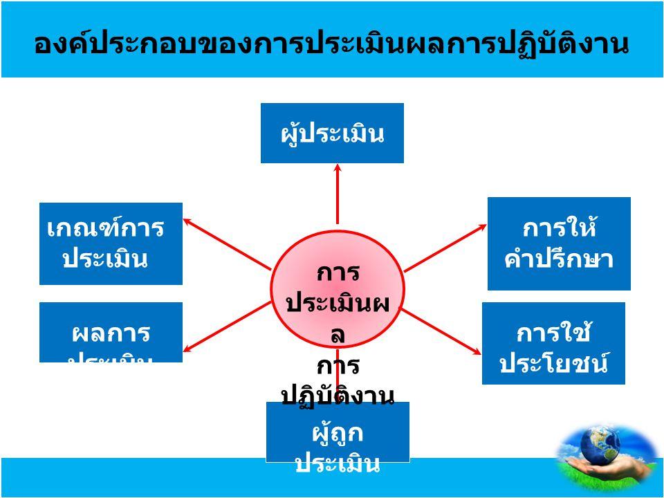 องค์ประกอบของการประเมินผลการปฏิบัติงาน