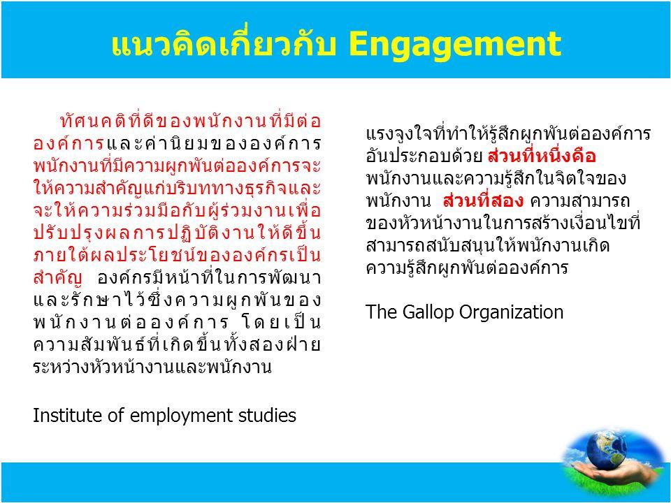 แนวคิดเกี่ยวกับ Engagement
