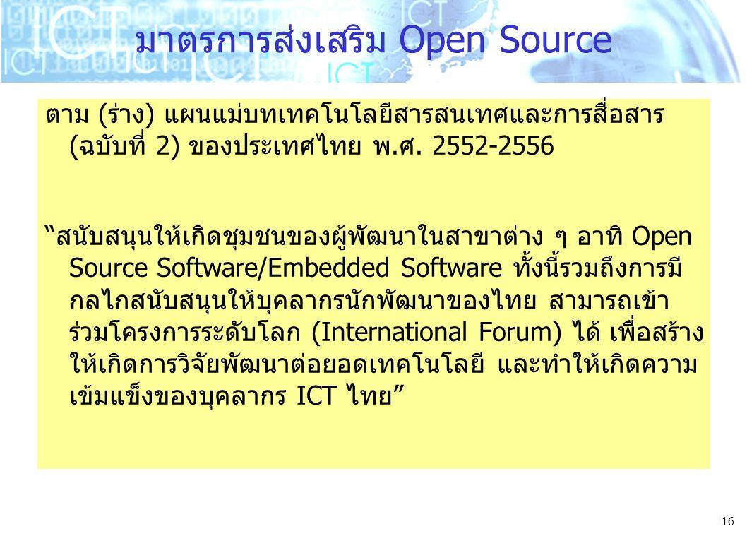 มาตรการส่งเสริม Open Source