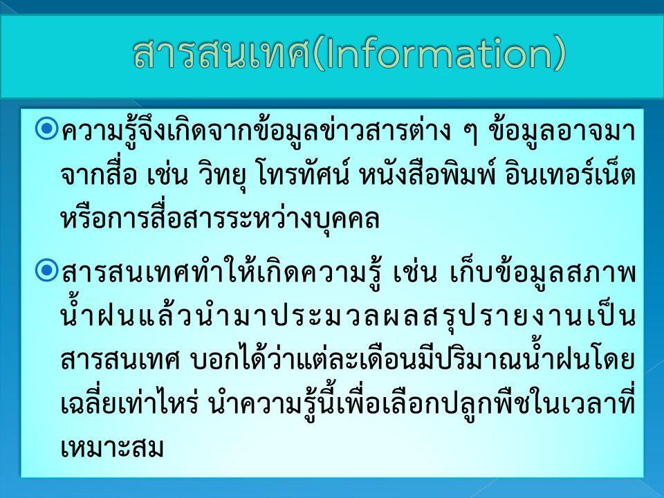สารสนเทศ(Information)