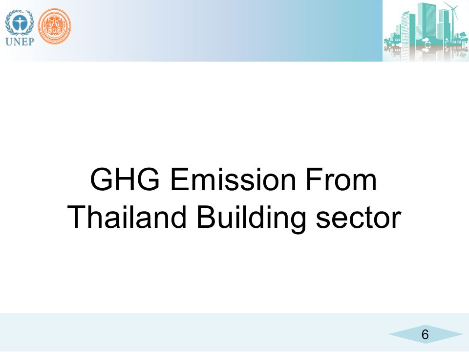 GHG Emission From Thailand Building sector