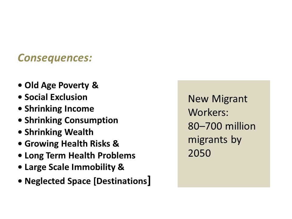 Consequences: New Migrant Workers: 80–700 million migrants by 2050