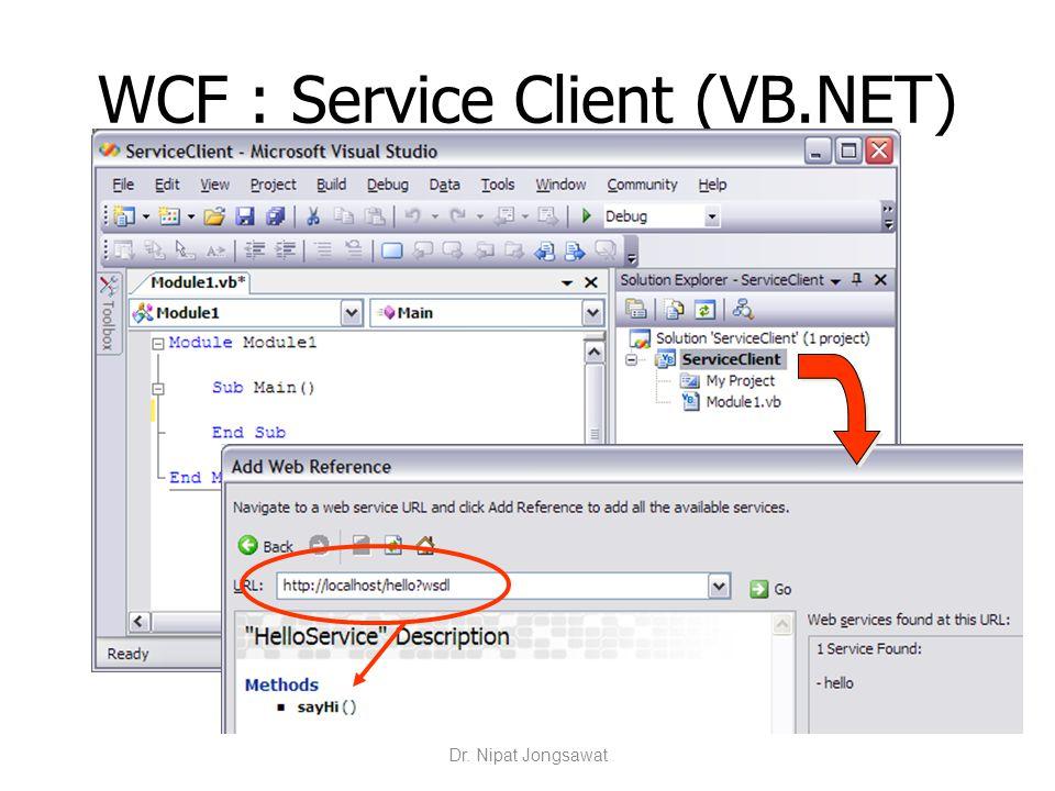 WCF : Service Client (VB.NET)