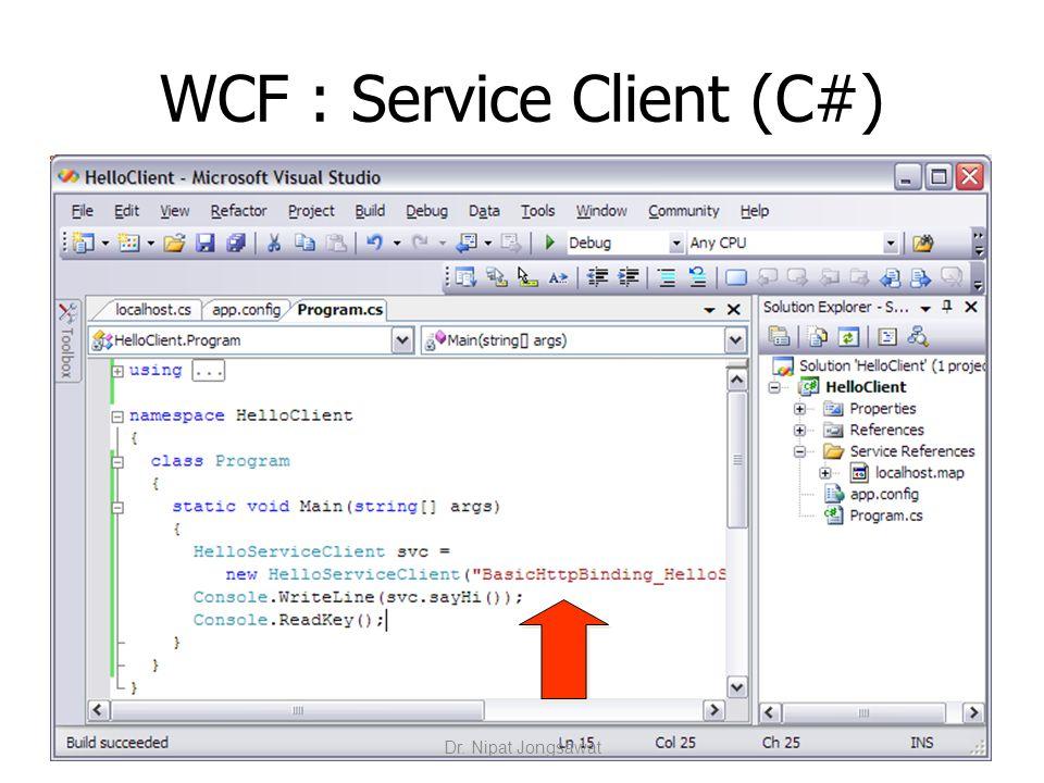 WCF : Service Client (C#)