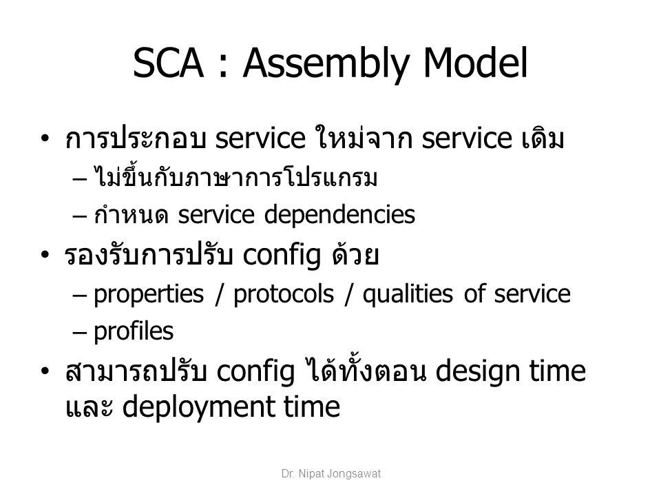 SCA : Assembly Model การประกอบ service ใหม่จาก service เดิม