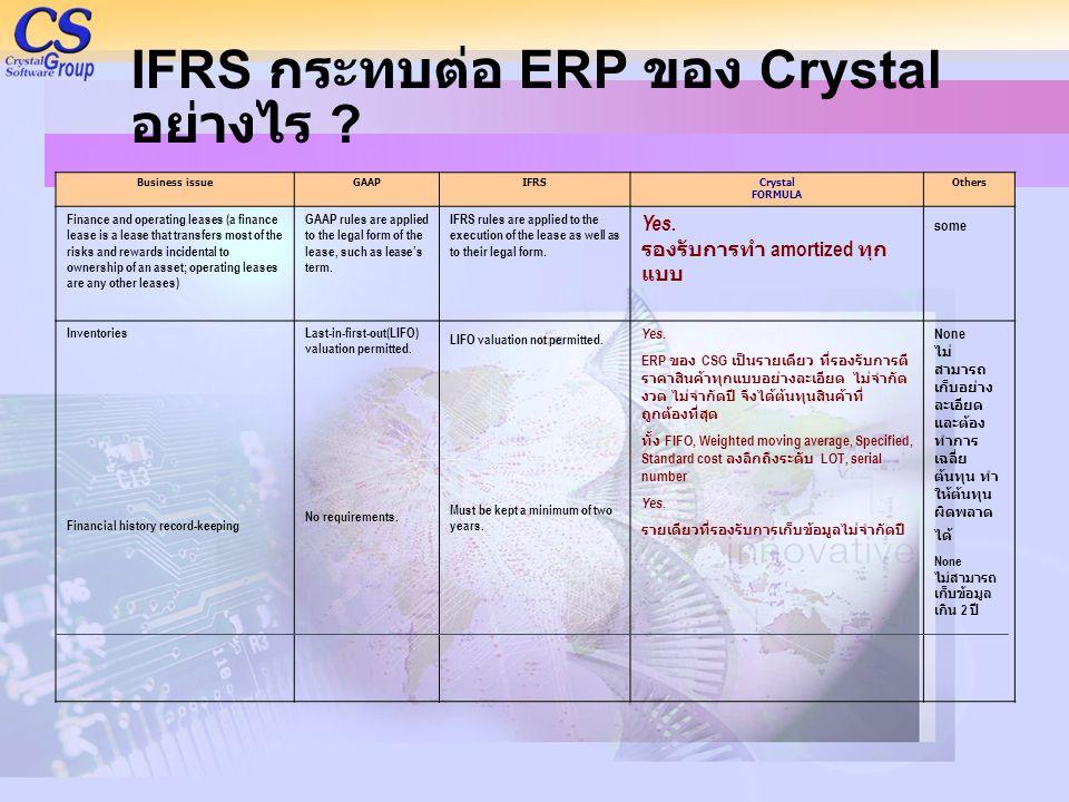 IFRS กระทบต่อ ERP ของ Crystal อย่างไร
