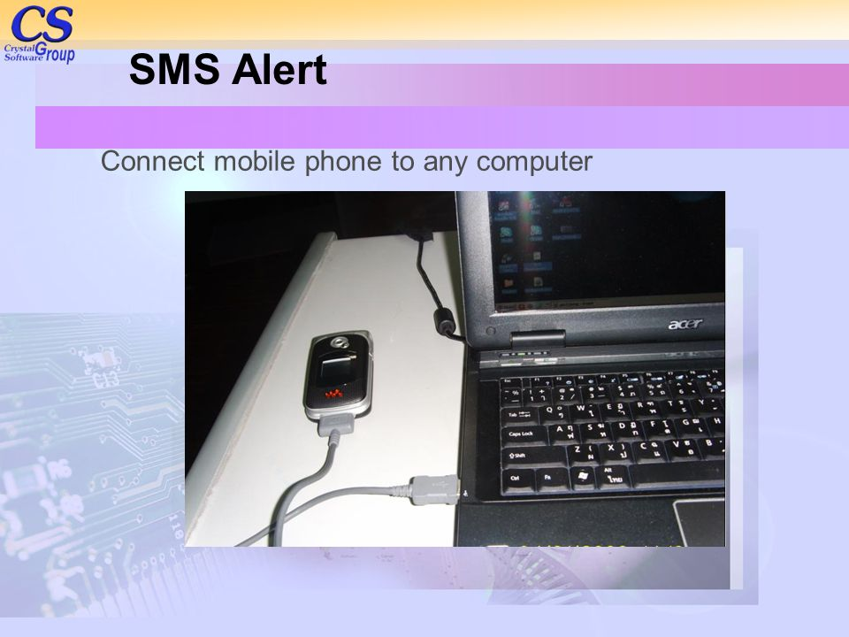 Connect mobile phone to any computer