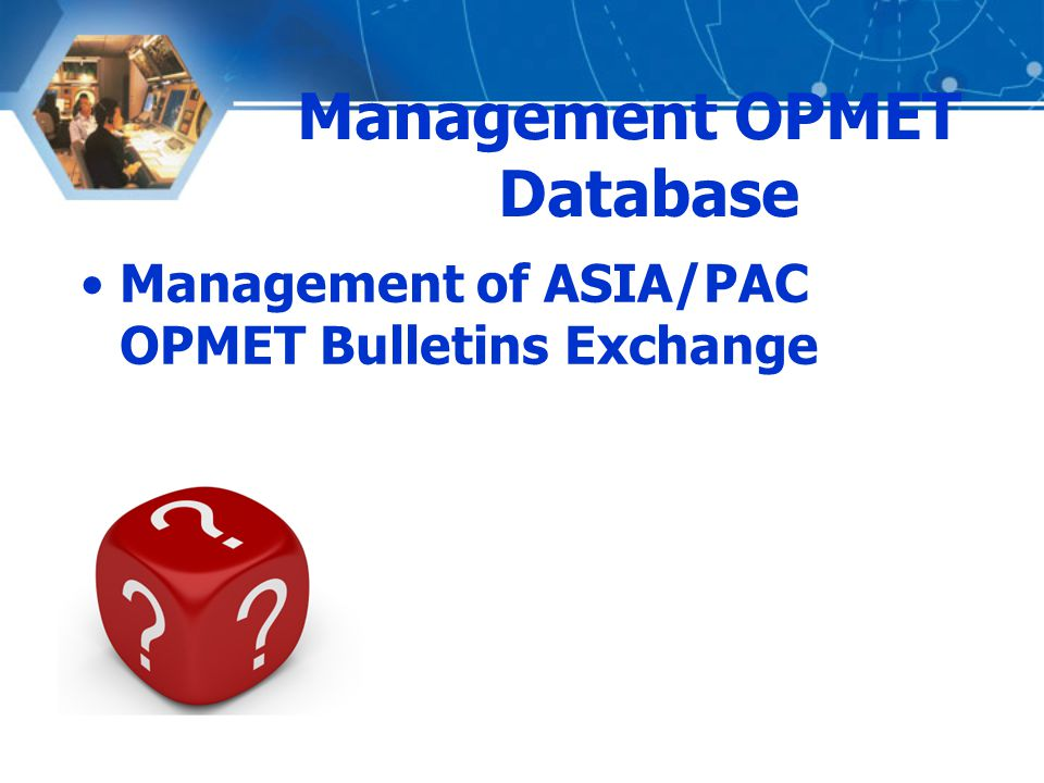 Management OPMET Database