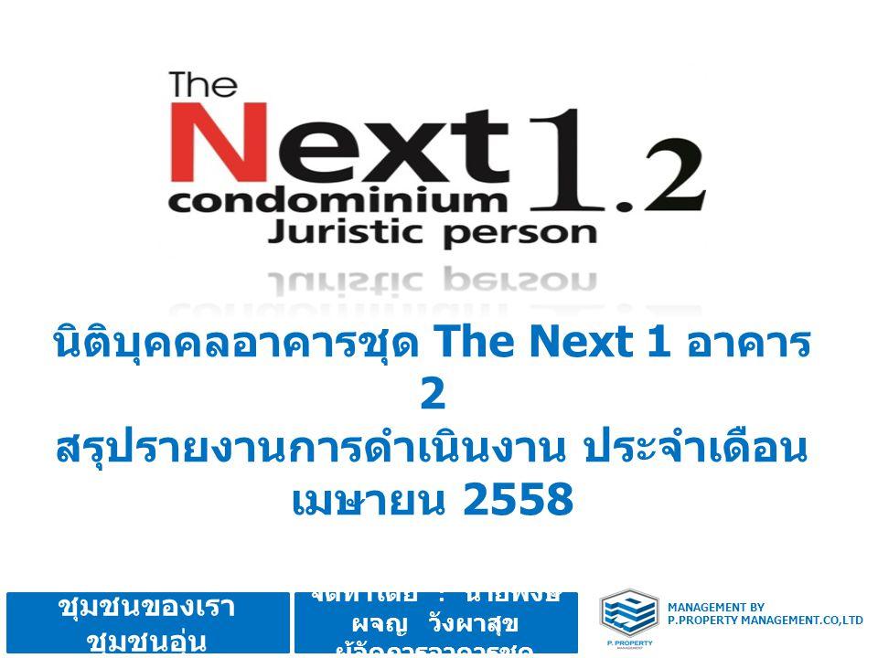 นิติบุคคลอาคารชุด The Next 1 อาคาร 2