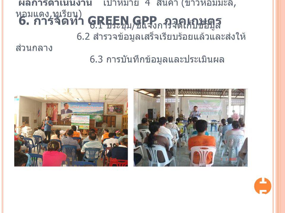 6. การจัดทำ GREEN GPP ภาคเกษตร