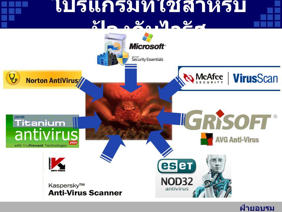 โปรแกรมที่ใช้สำหรับป้องกันไวรัส