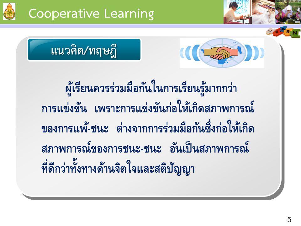 Cooperative Learning แนวคิด/ทฤษฎี