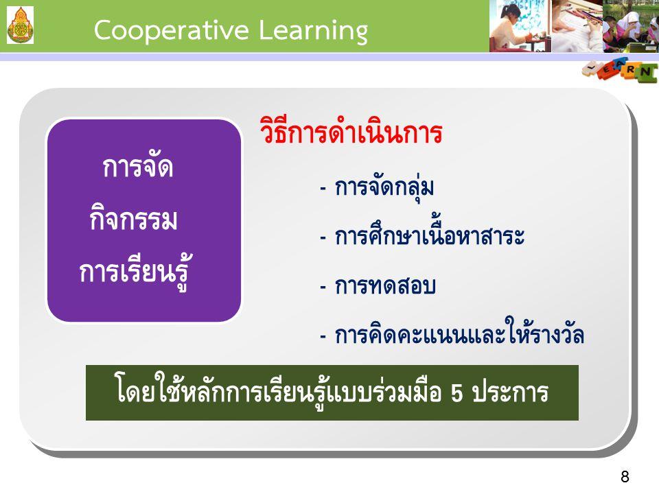 การจัดกิจกรรม การเรียนรู้