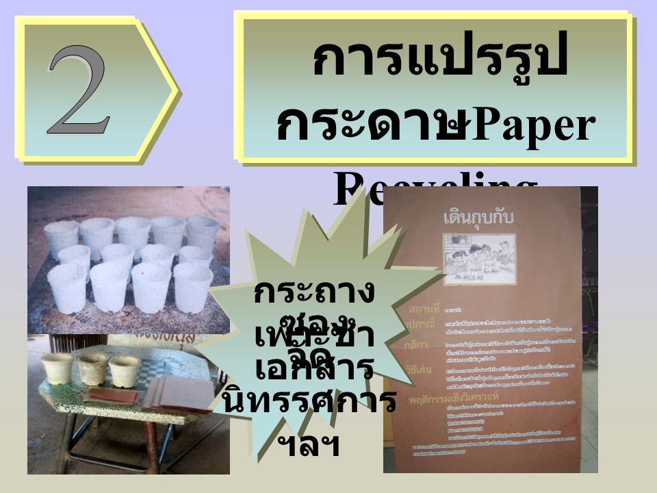 การแปรรูปกระดาษPaper Recycling