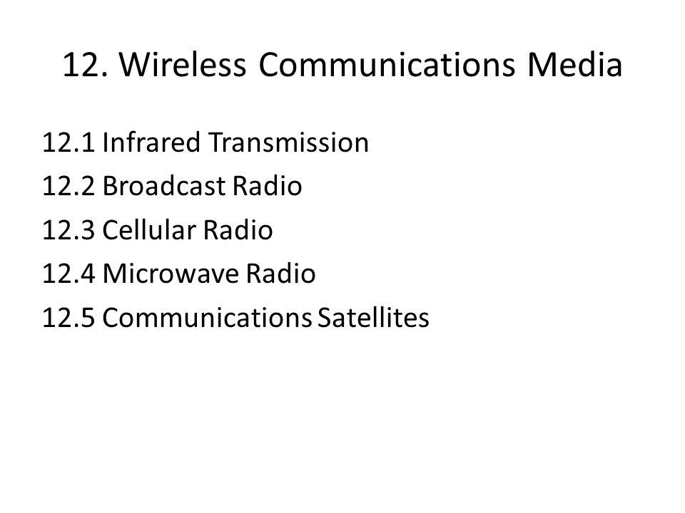 12. Wireless Communications Media