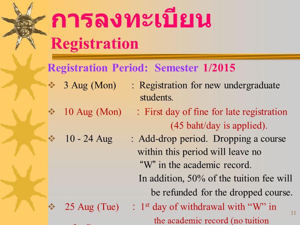 การลงทะเบียน Registration
