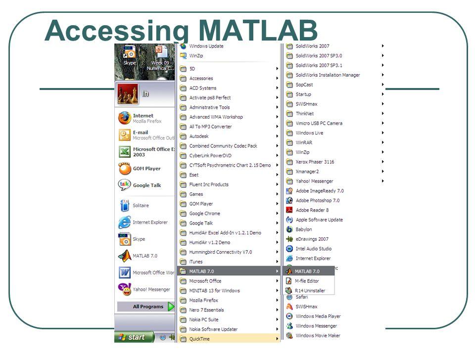 Accessing MATLAB