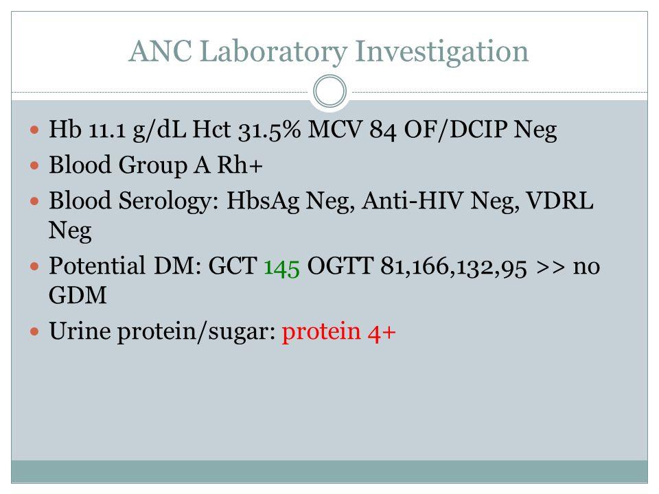 ANC Laboratory Investigation