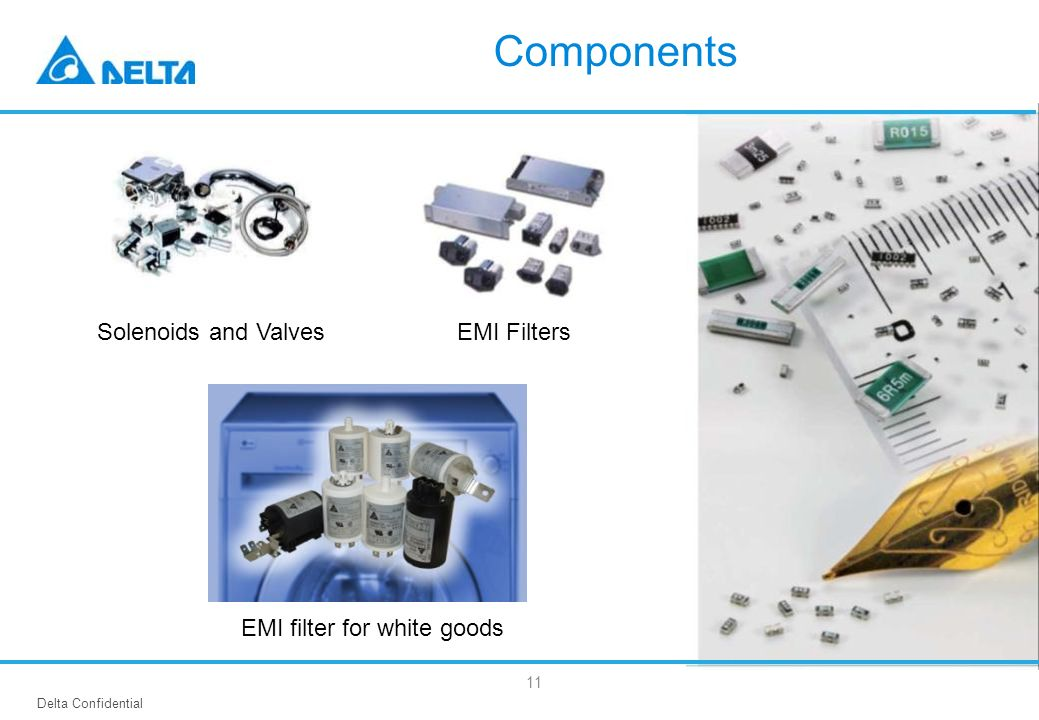 Components Solenoids and Valves EMI Filters EMI filter for white goods
