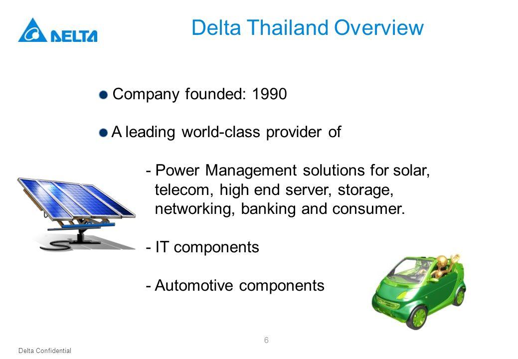 Delta Thailand Overview