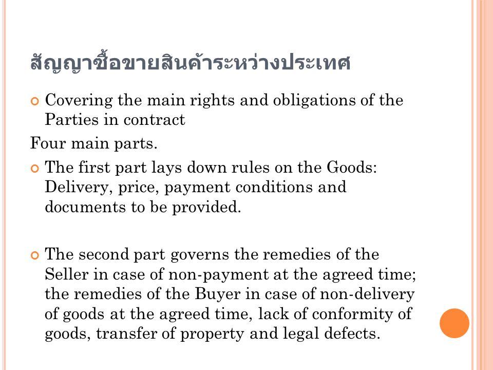 สัญญาซื้อขายสินค้าระหว่างประเทศ