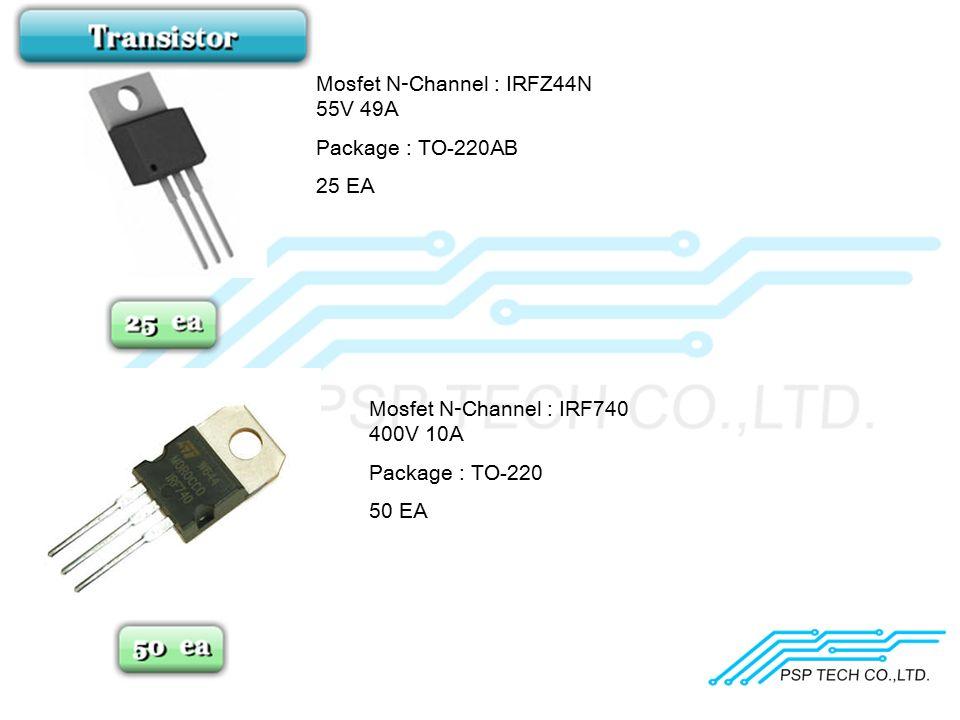 Mosfet N-Channel : IRFZ44N 55V 49A