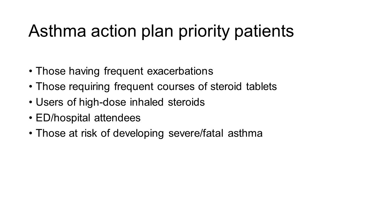 Asthma action plan priority patients