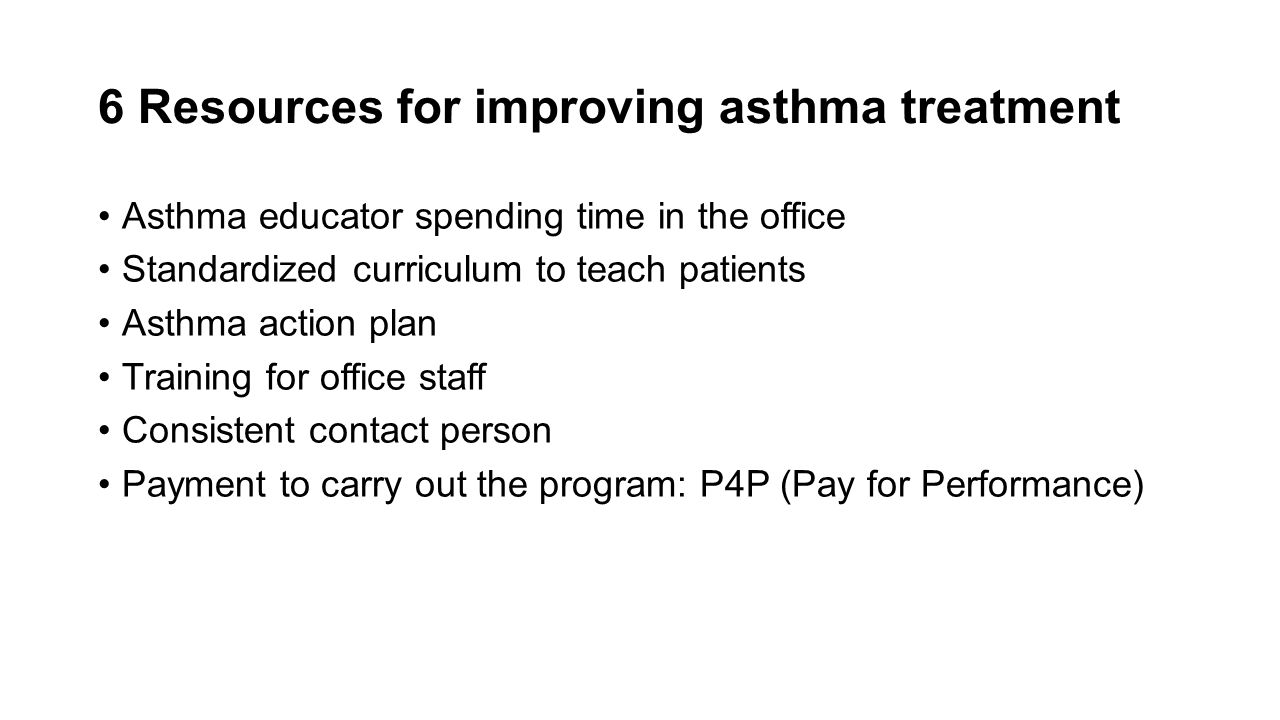 6 Resources for improving asthma treatment