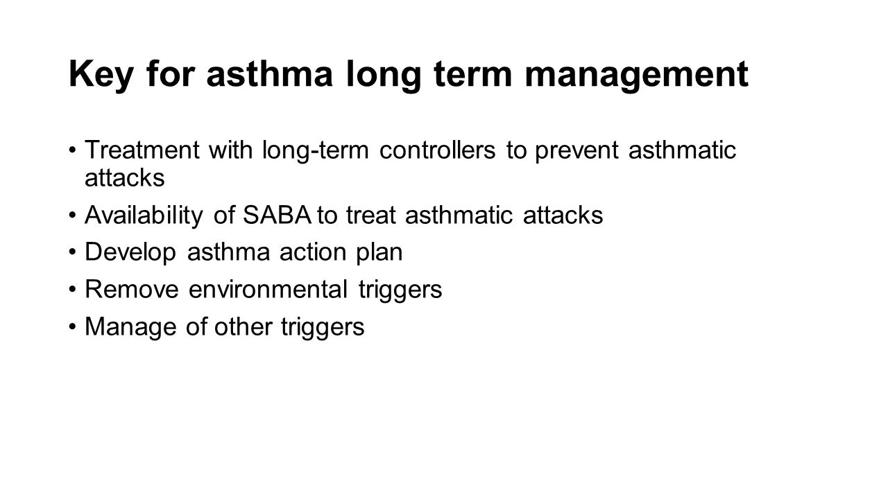 Key for asthma long term management
