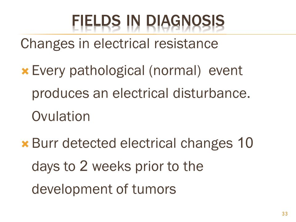 Fields in Diagnosis Changes in electrical resistance