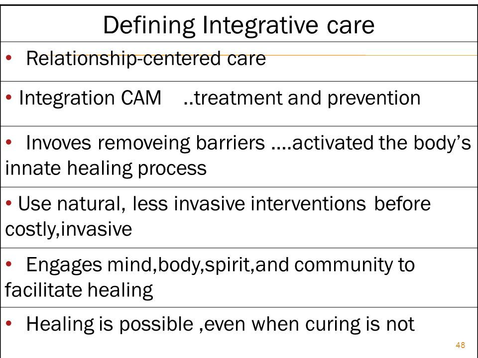 Defining Integrative care