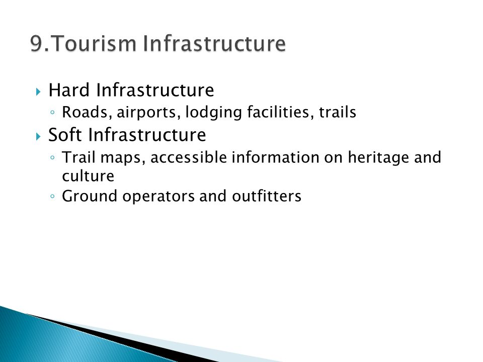 9.Tourism Infrastructure