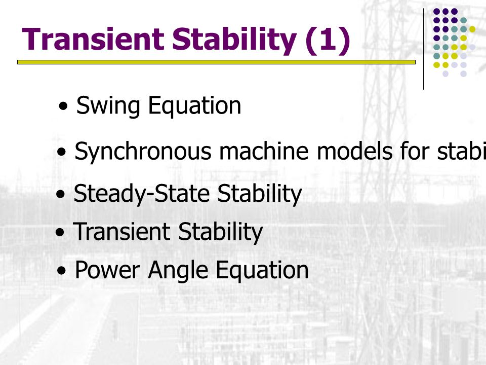Transient Stability (1)