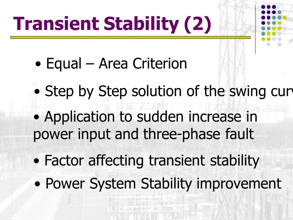 Transient Stability (2)