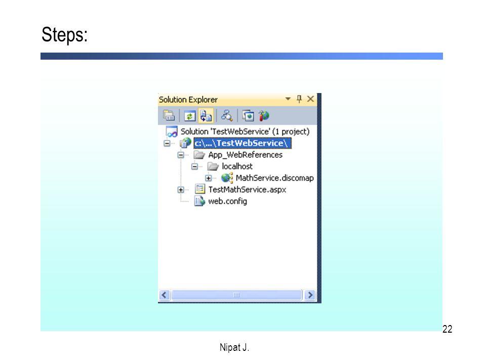 Steps: Nipat J. Nipat J.