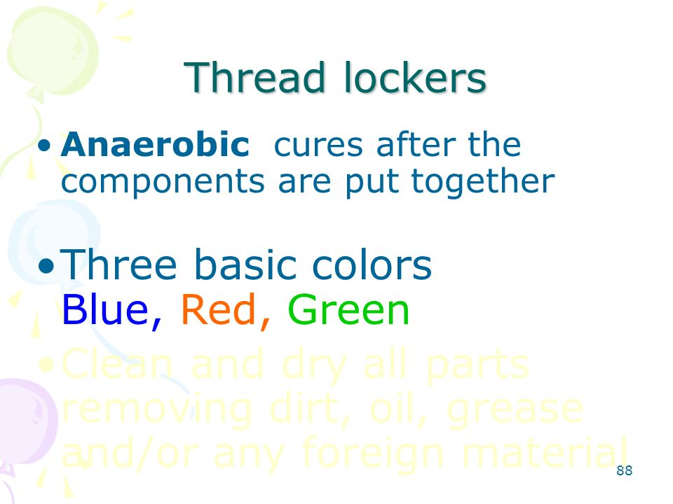 Three basic colors Blue, Red, Green