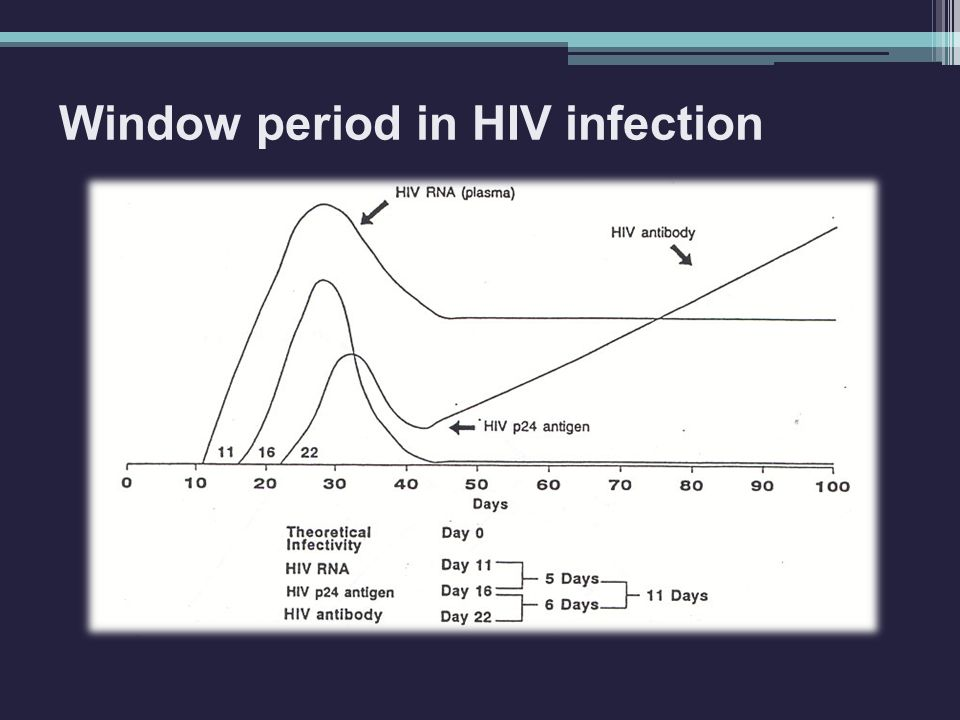 Window period in HIV infection