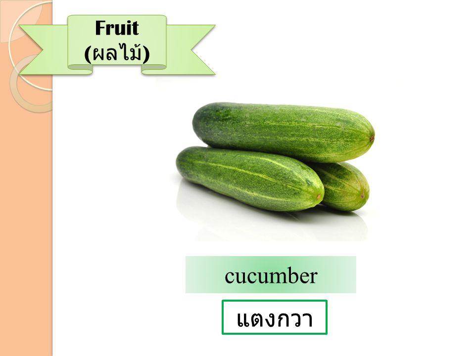 Fruit (ผลไม้) cucumber แตงกวา