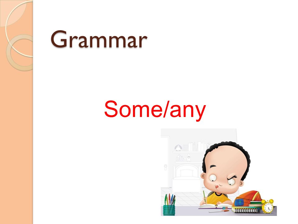 Grammar Some/any
