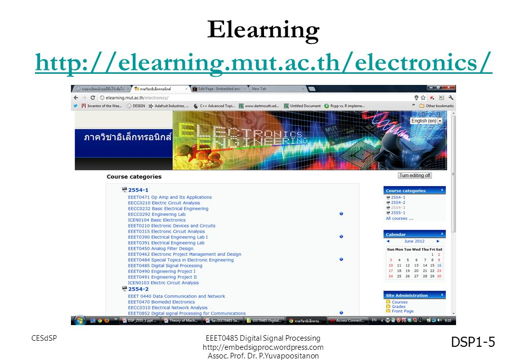 Elearning http://elearning.mut.ac.th/electronics/