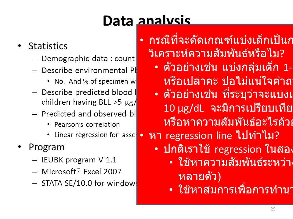 Data analysis กรณีที่จะตัดเกณฑ์แบ่งเด็กเป็นกลุ่มๆจะใช้สถิติอะไรช่วยวิเคราะห์ความสัมพันธ์หรือไม่