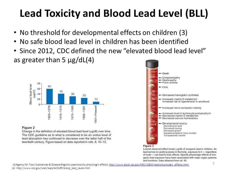Lead Toxicity and Blood Lead Level (BLL)