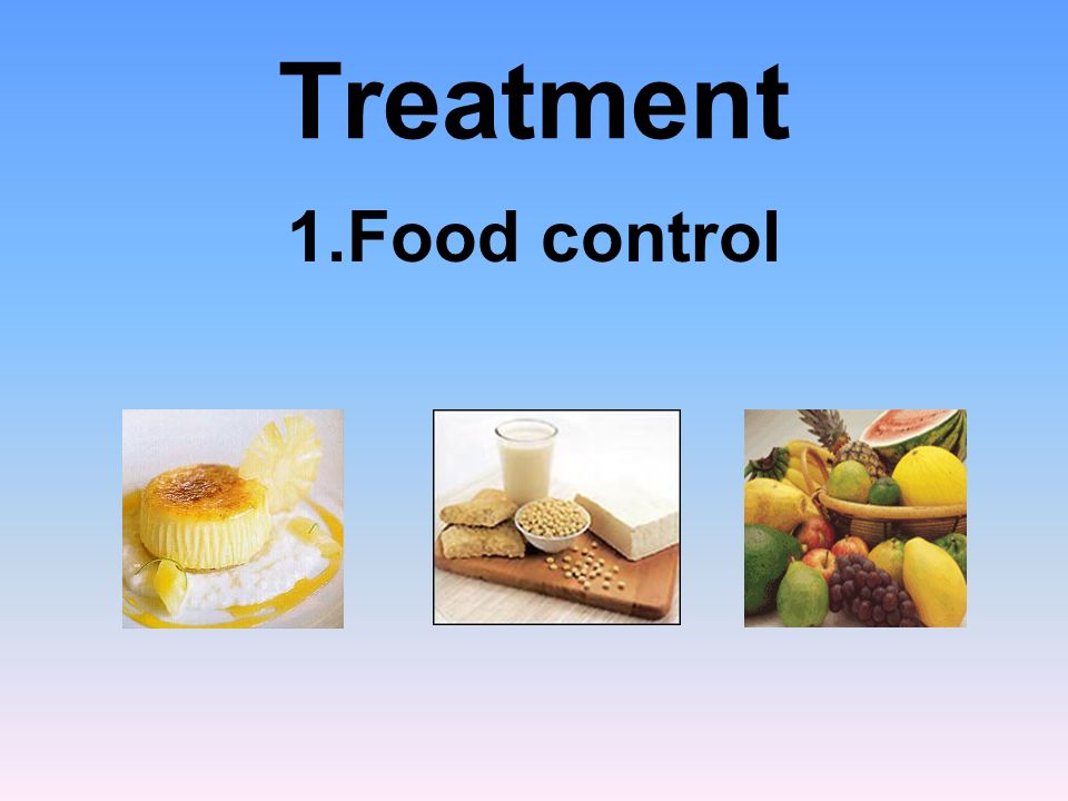Treatment 1.Food control