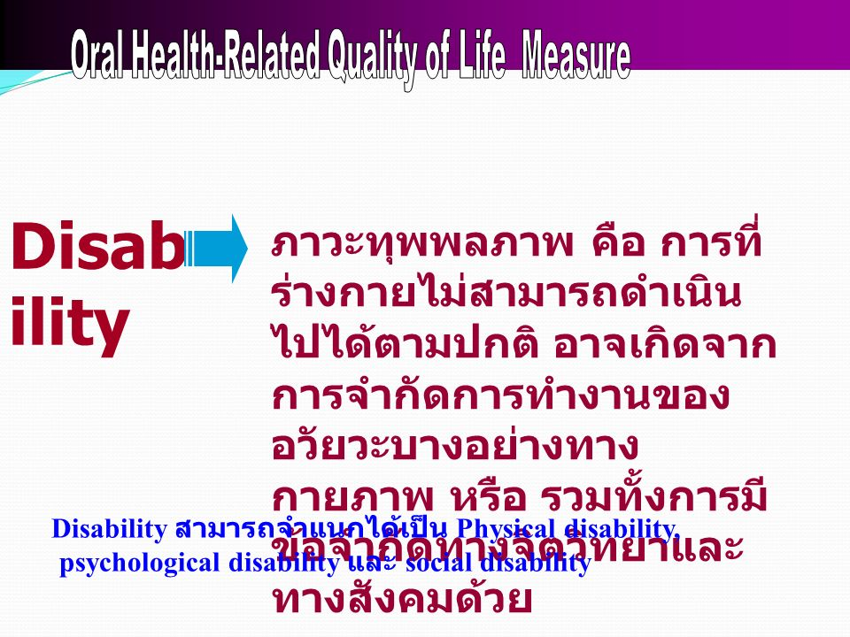 Oral Health-Related Quality of Life Measure