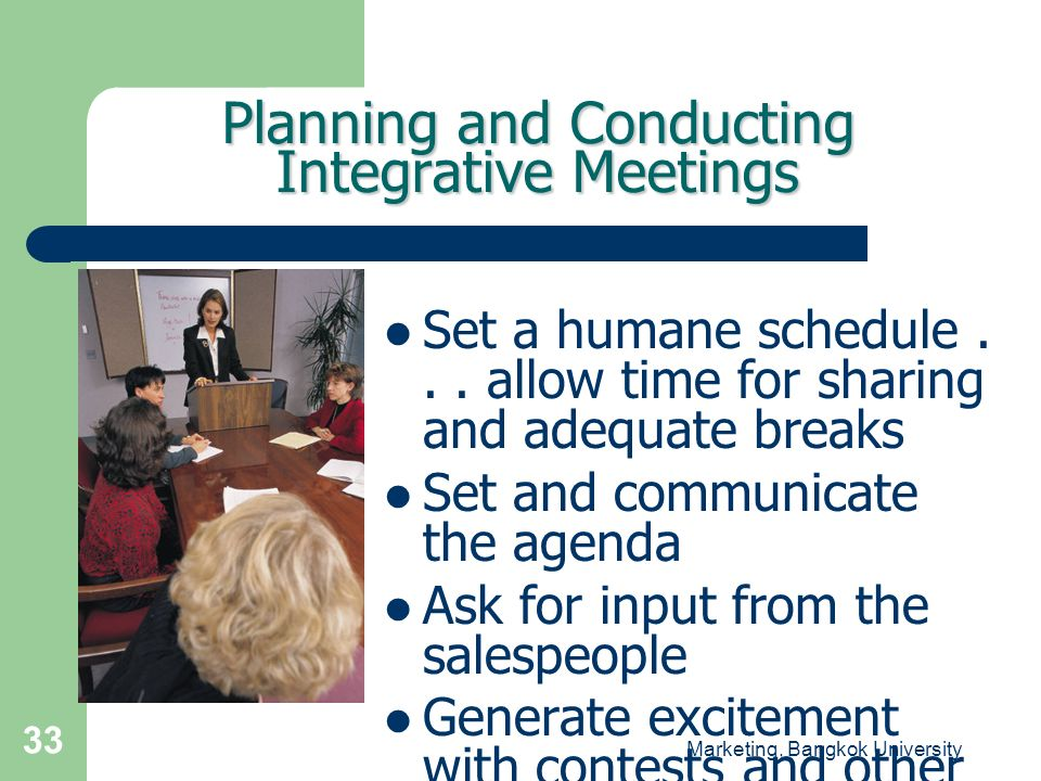 Planning and Conducting Integrative Meetings