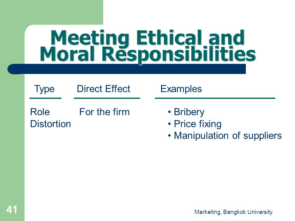 Meeting Ethical and Moral Responsibilities