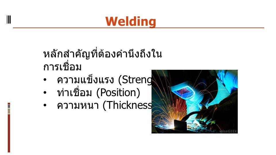 Welding หลักสำคัญที่ต้องคำนึงถึงในการเชื่อม ความแข็งแรง (Strength)