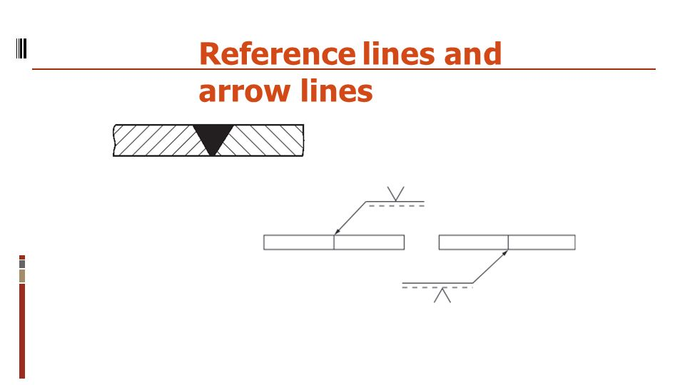 Reference lines and arrow lines
