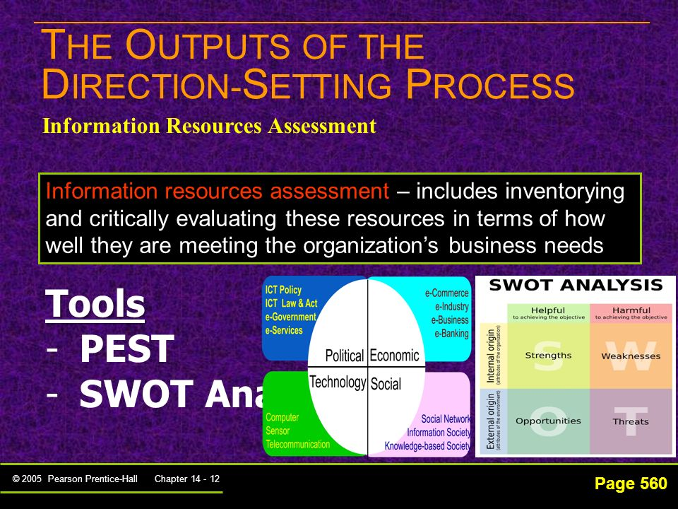 THE OUTPUTS OF THE DIRECTION-SETTING PROCESS